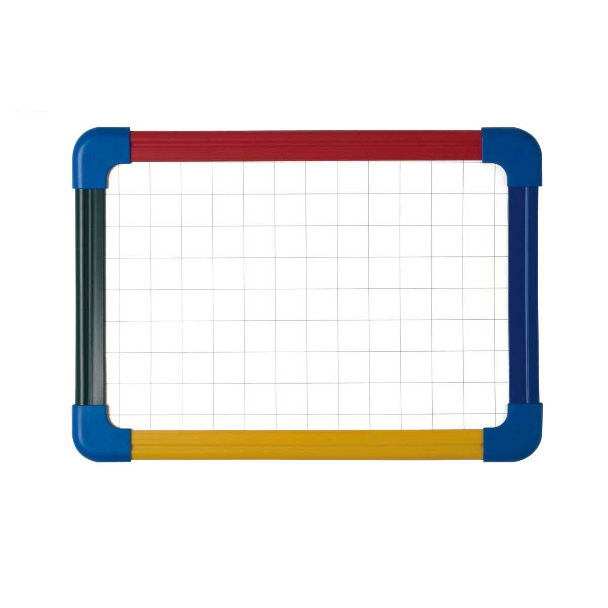 Schoolmate Drywipe and Magnetic A4 Whiteboard with Coloured Frame