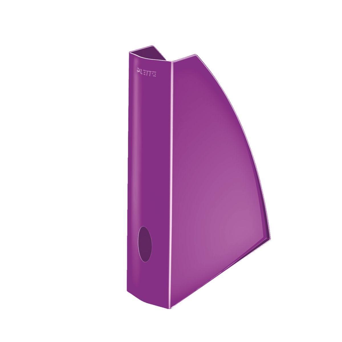 Leitz WOW Magazine File Purple