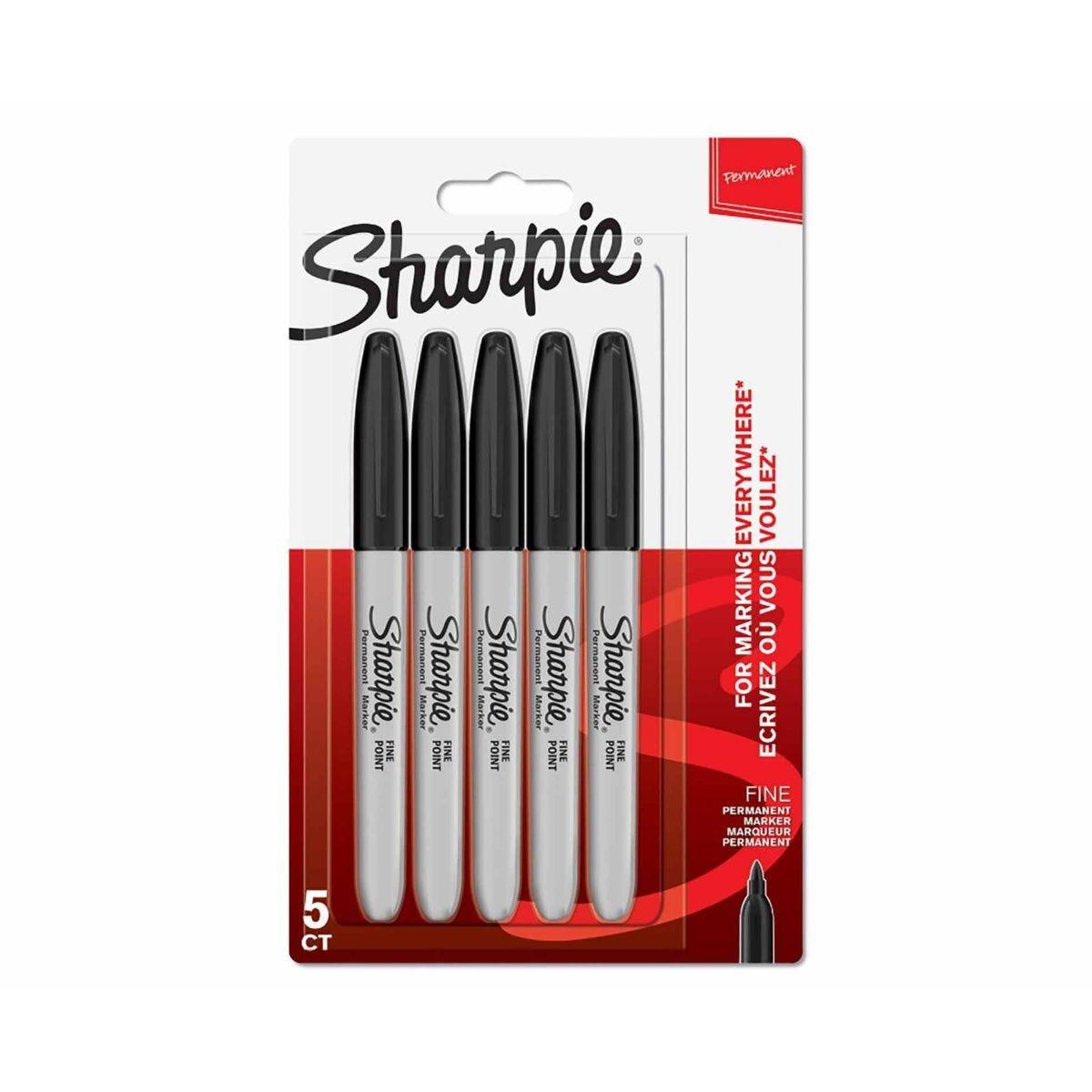 Sharpie Fine Marker Pen Pack of 5