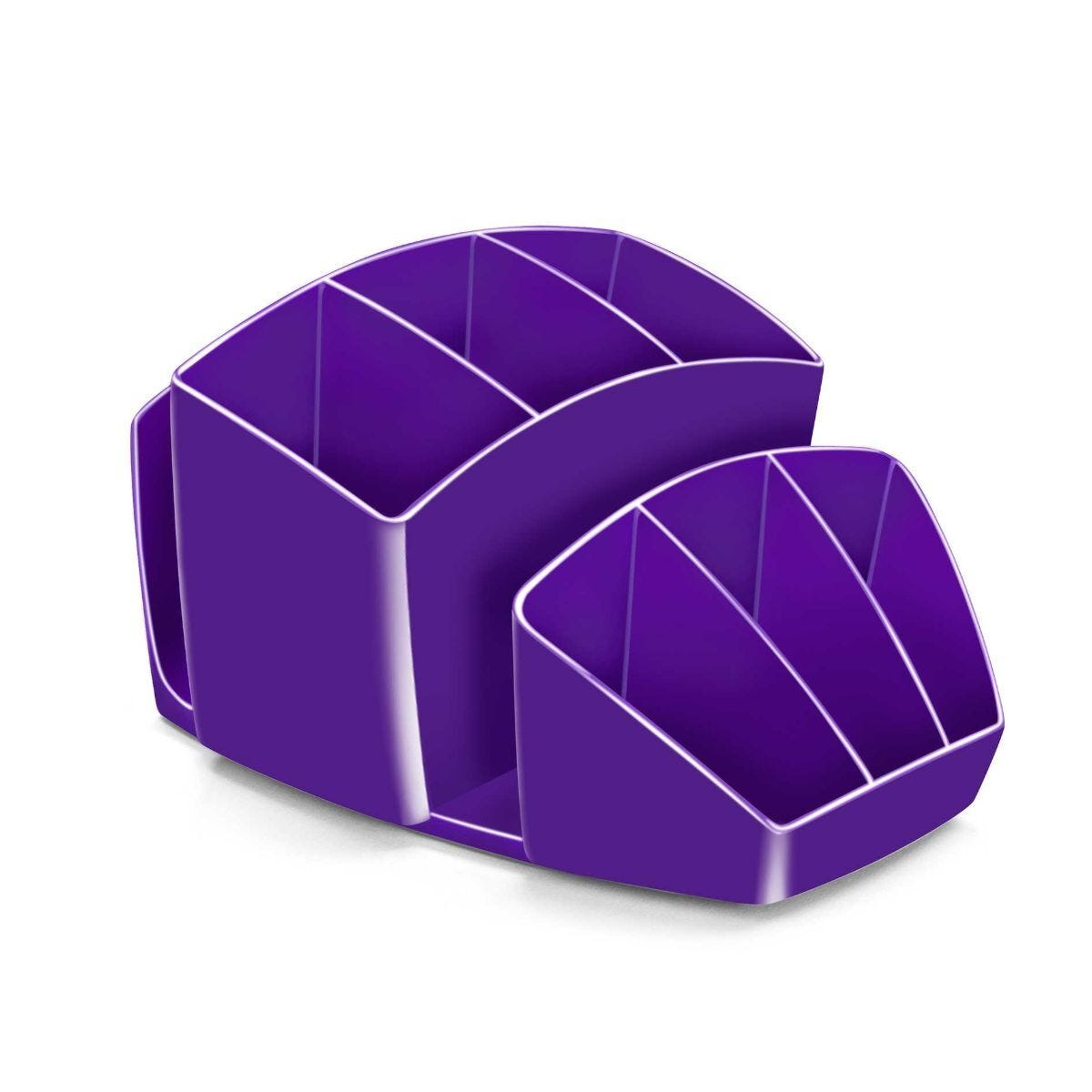 CEP Gloss Desktop Organizer with 8 Compartments Purple