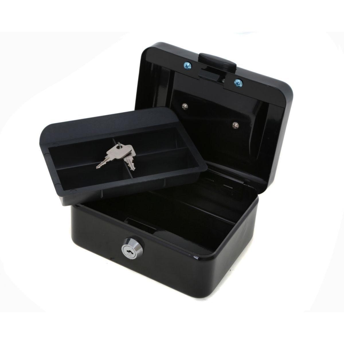 Ryman Button Release Cash Box H75xW150x110 Black