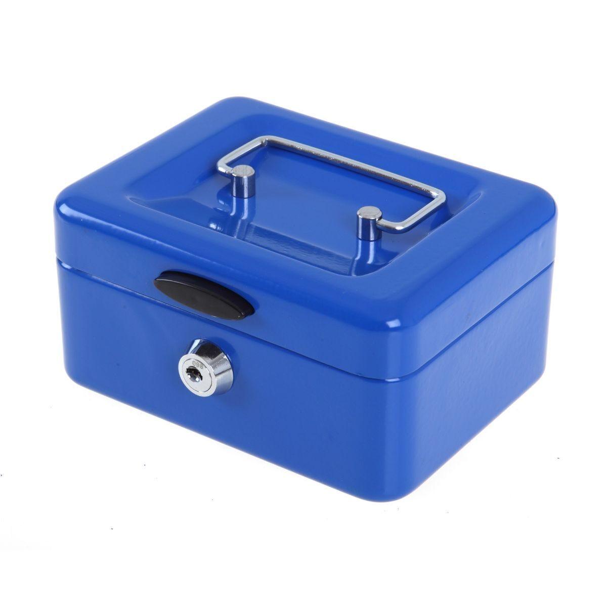 Ryman Button Release Cash Box H75xW150x110 Blue