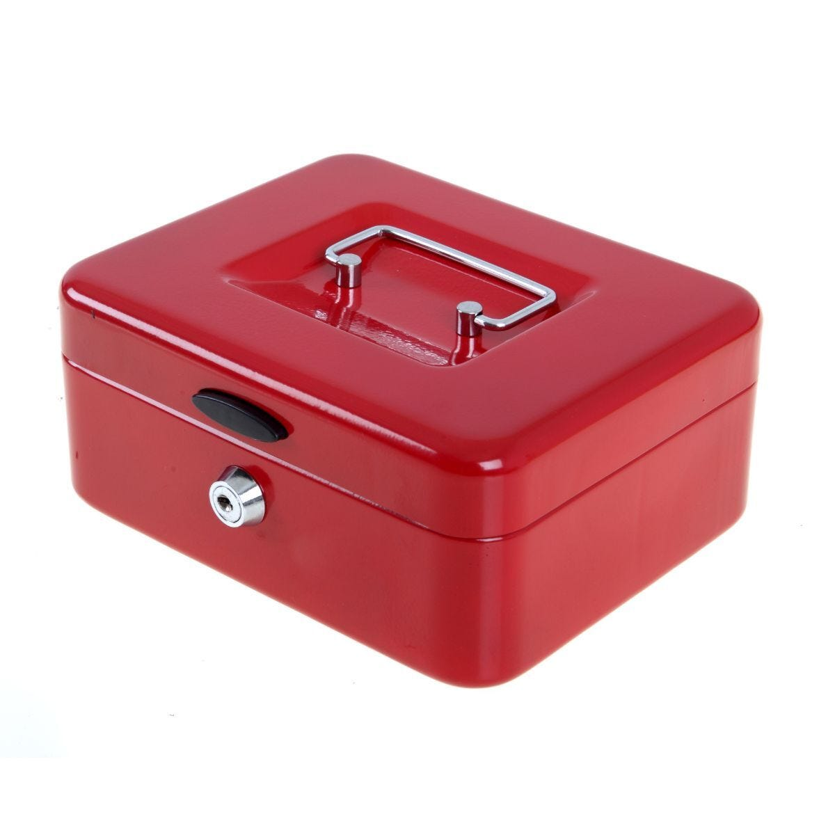 Ryman Button Release Cash Box H90xW200xD170mm Red