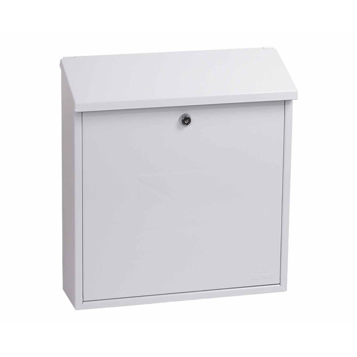 Phoenix Casa MB0111KB Top Loading Mailbox with Key Lock White