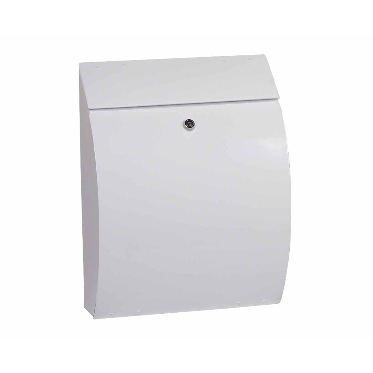 Phoenix Curvo Top Loading Mailbox with Key Lock White