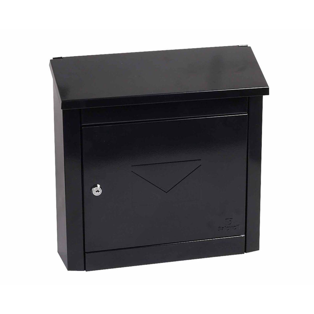 Phoenix Moda MB0113KB Top Loading Mailbox with Key Lock Black