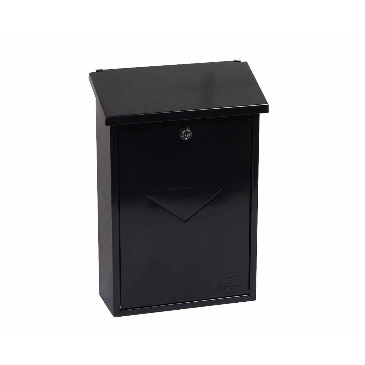 Phoenix Villa MB0114KB Top Loading Mailbox with Key Lock Black