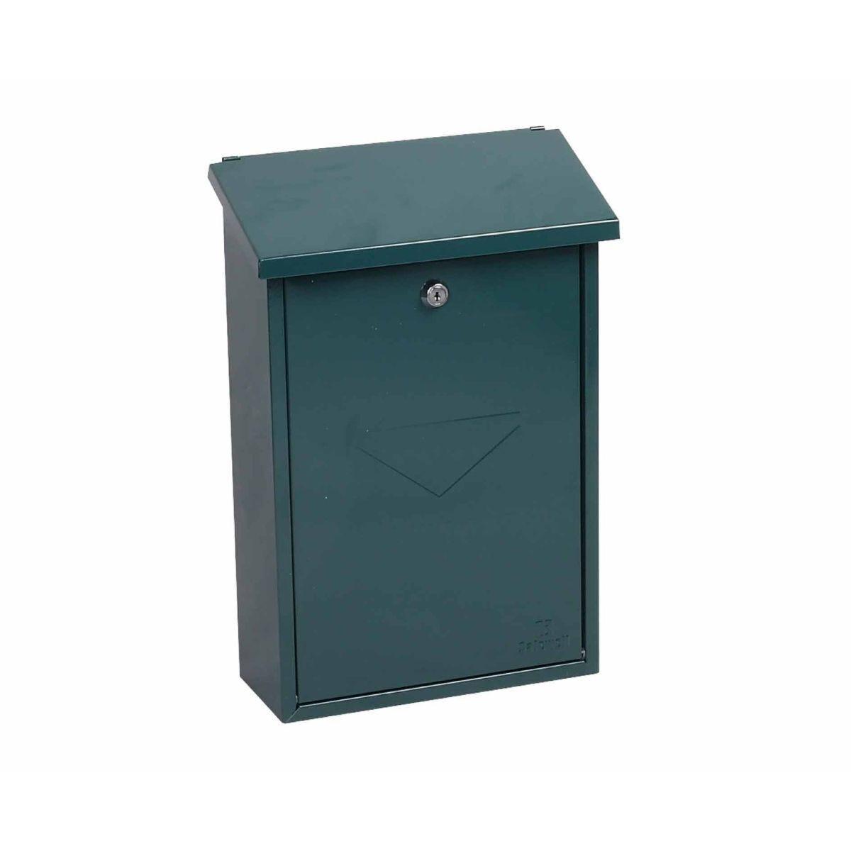 Phoenix Villa MB0114KB Top Loading Mailbox with Key Lock Green
