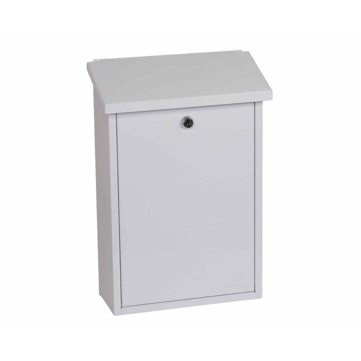Phoenix Villa MB0114KB Top Loading Mailbox with Key Lock White
