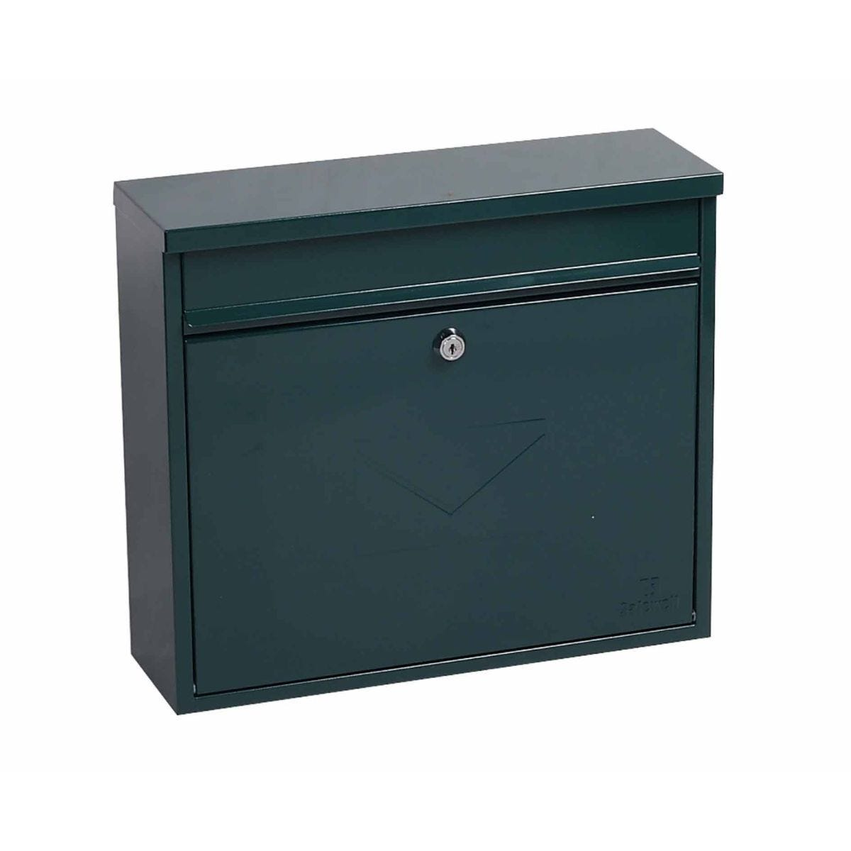 Phoenix Correo MB0118KB Front Loading Mailbox with Key Lock Green