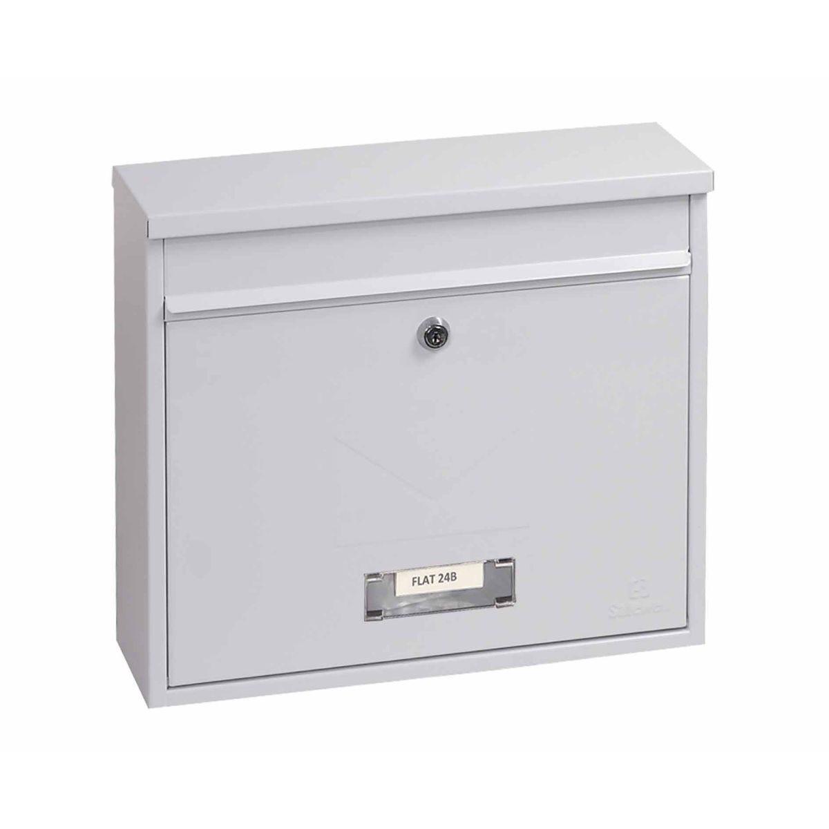Phoenix Correo MB0118KB Front Loading Mailbox with Key Lock White