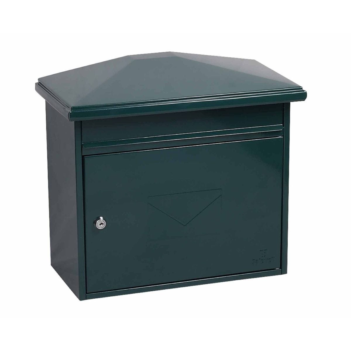 Phoenix Libro MB0115KB Front Loading Mailbox with Key Lock Green