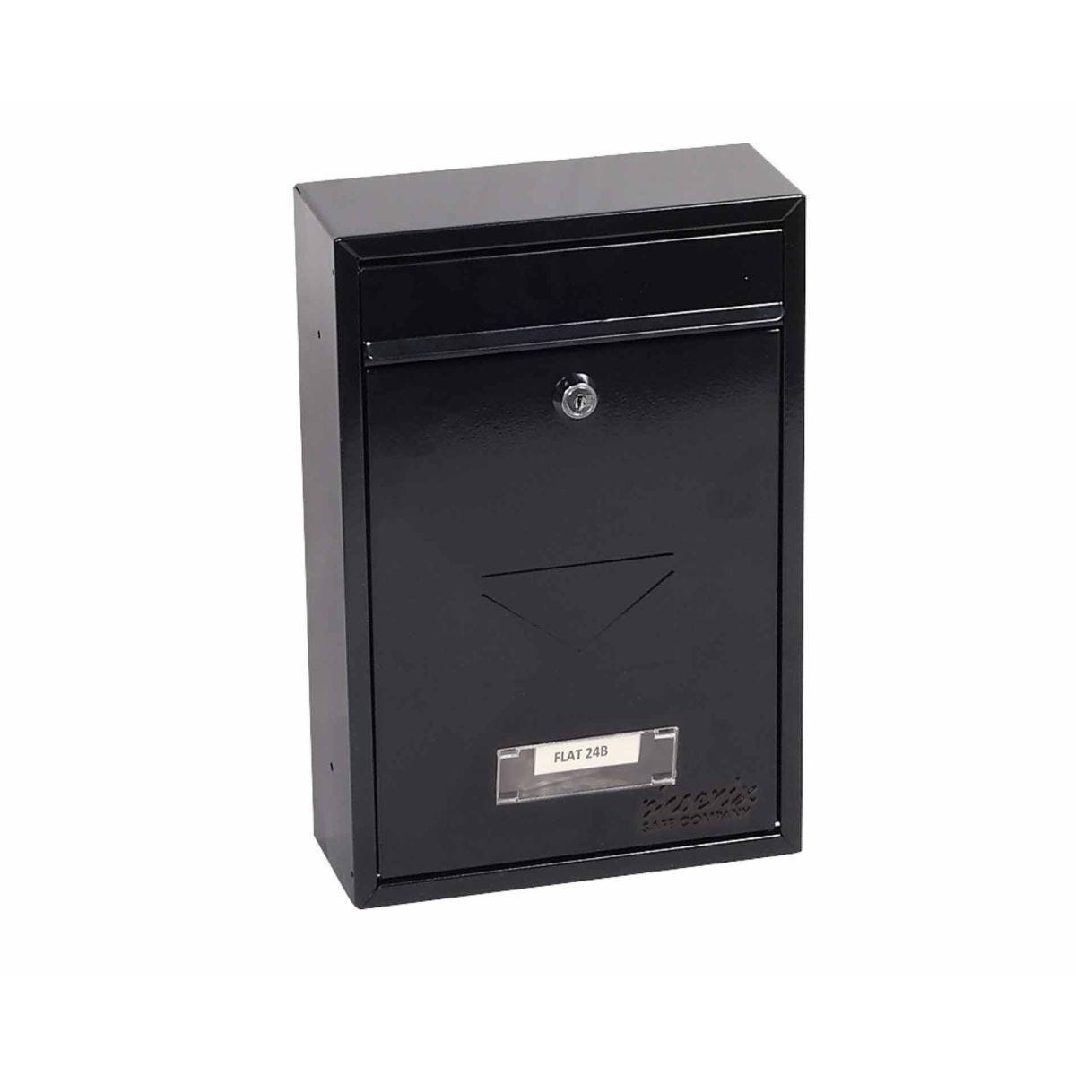 Phoenix Letra MB0116KB Front Loading Mailbox with Key Lock Black
