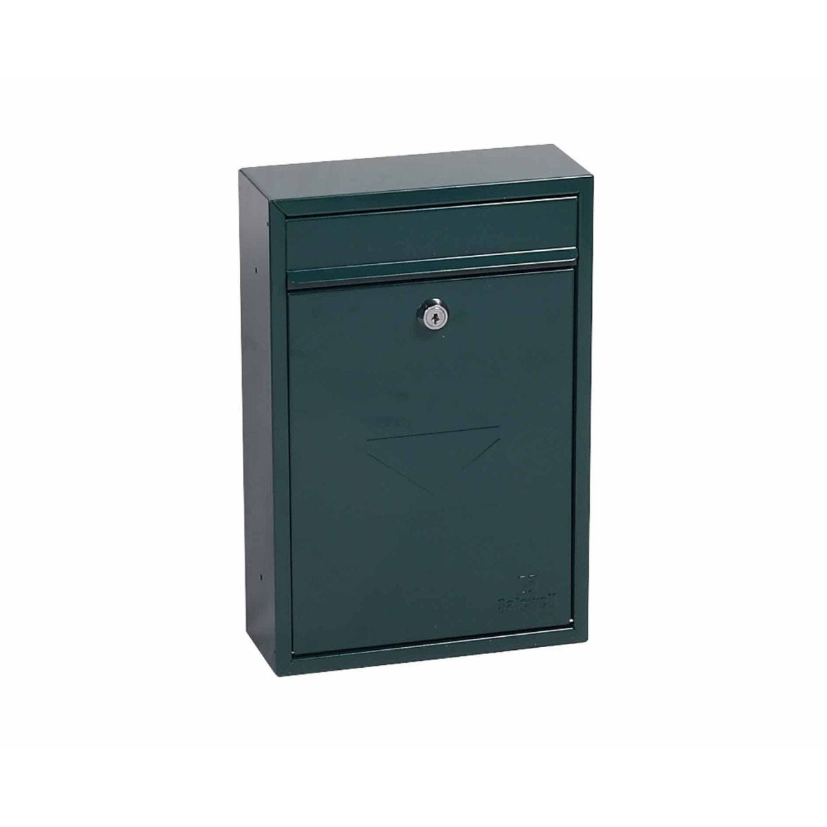 Phoenix Letra MB0116KB Front Loading Mailbox with Key Lock Green
