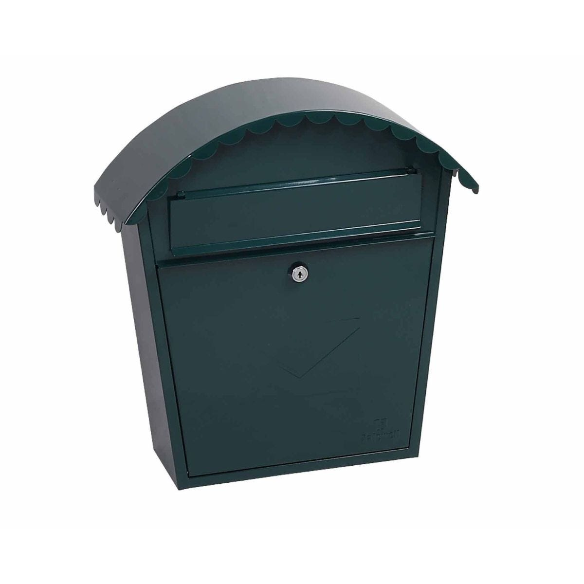 Phoenix Clasico MB0117KB Front Loading Mailbox with Key Lock Green