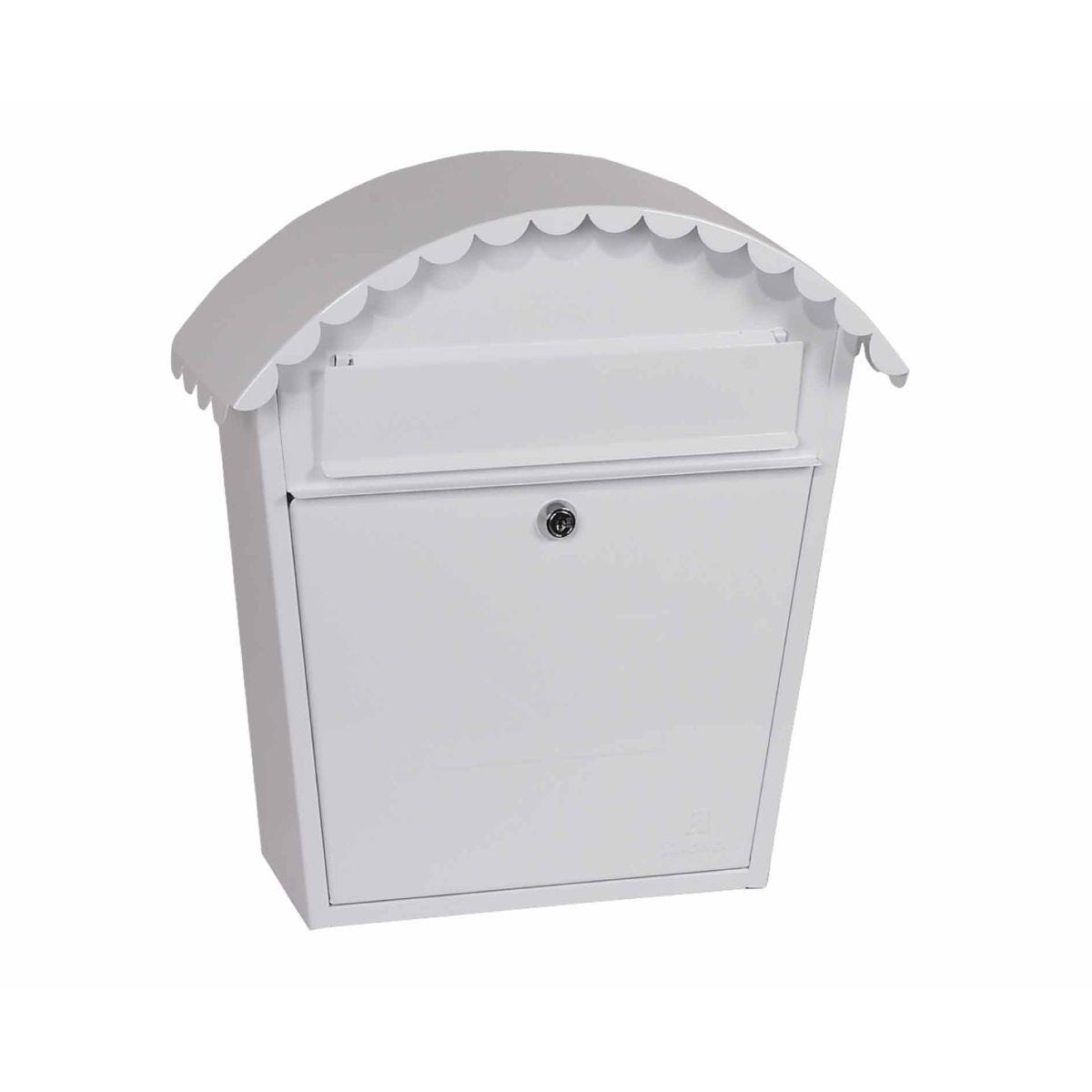 Phoenix Clasico MB0117KB Front Loading Mailbox with Key Lock White