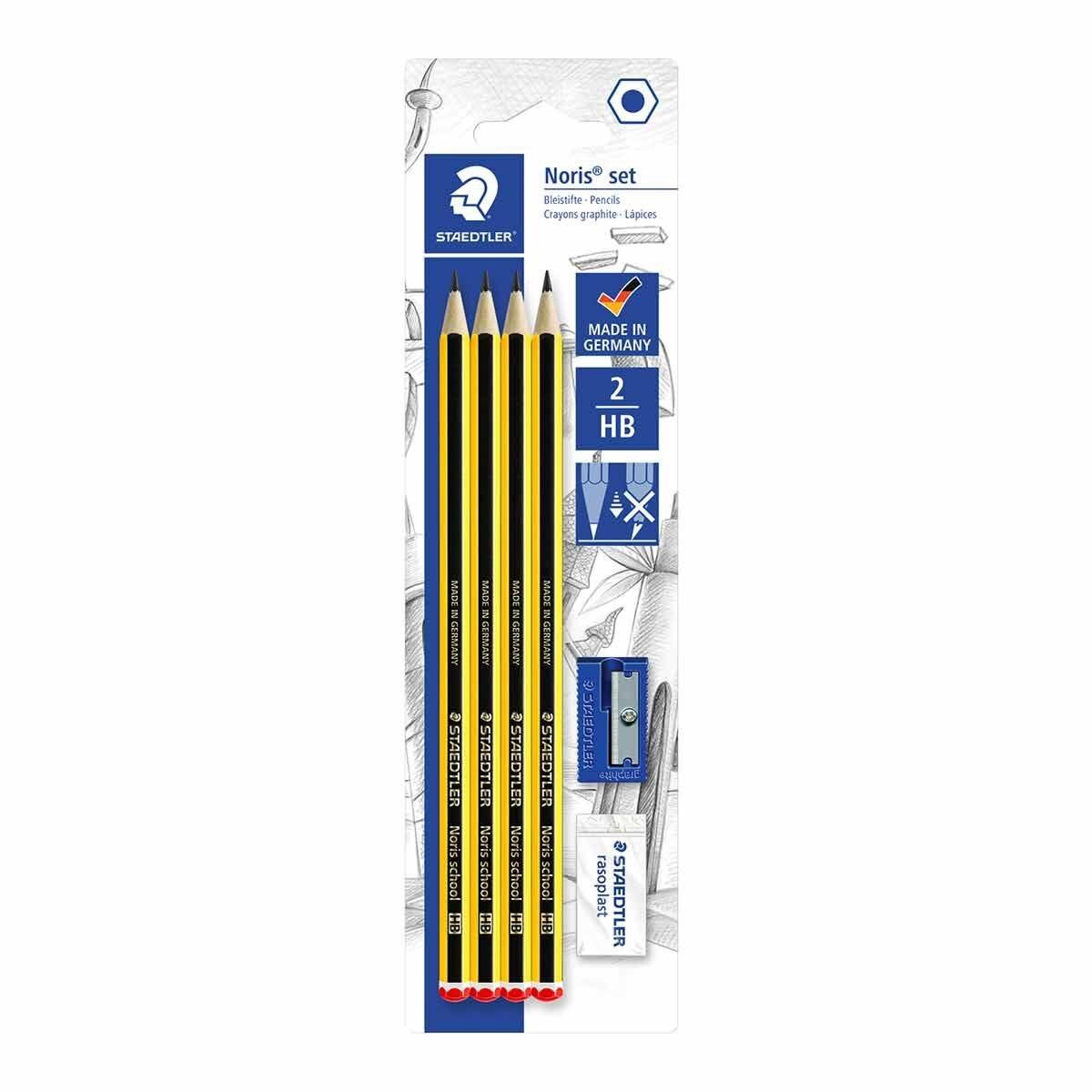 Staedtler Noris Pencil Set HB with Eraser and Sharpener
