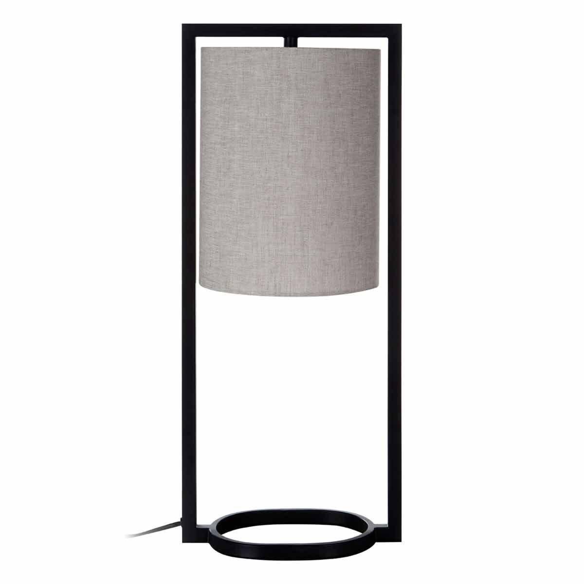 Premier Housewares Lara Metal Table Lamp 60cm Grey Shade