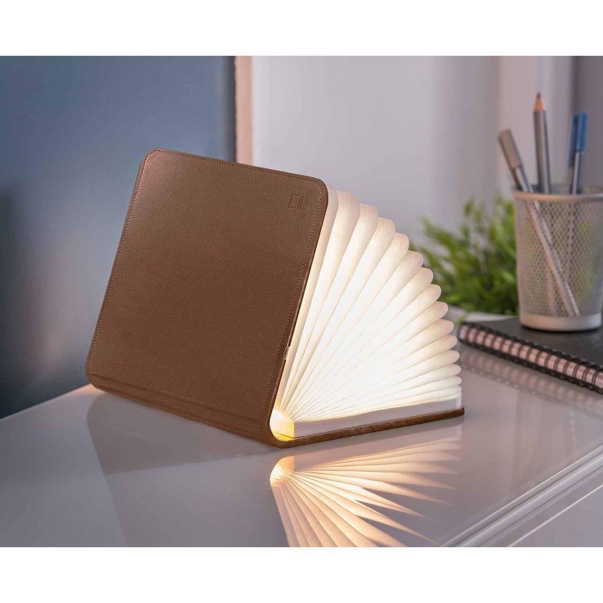 Gingko Smart Leather Mini Book Light Brown