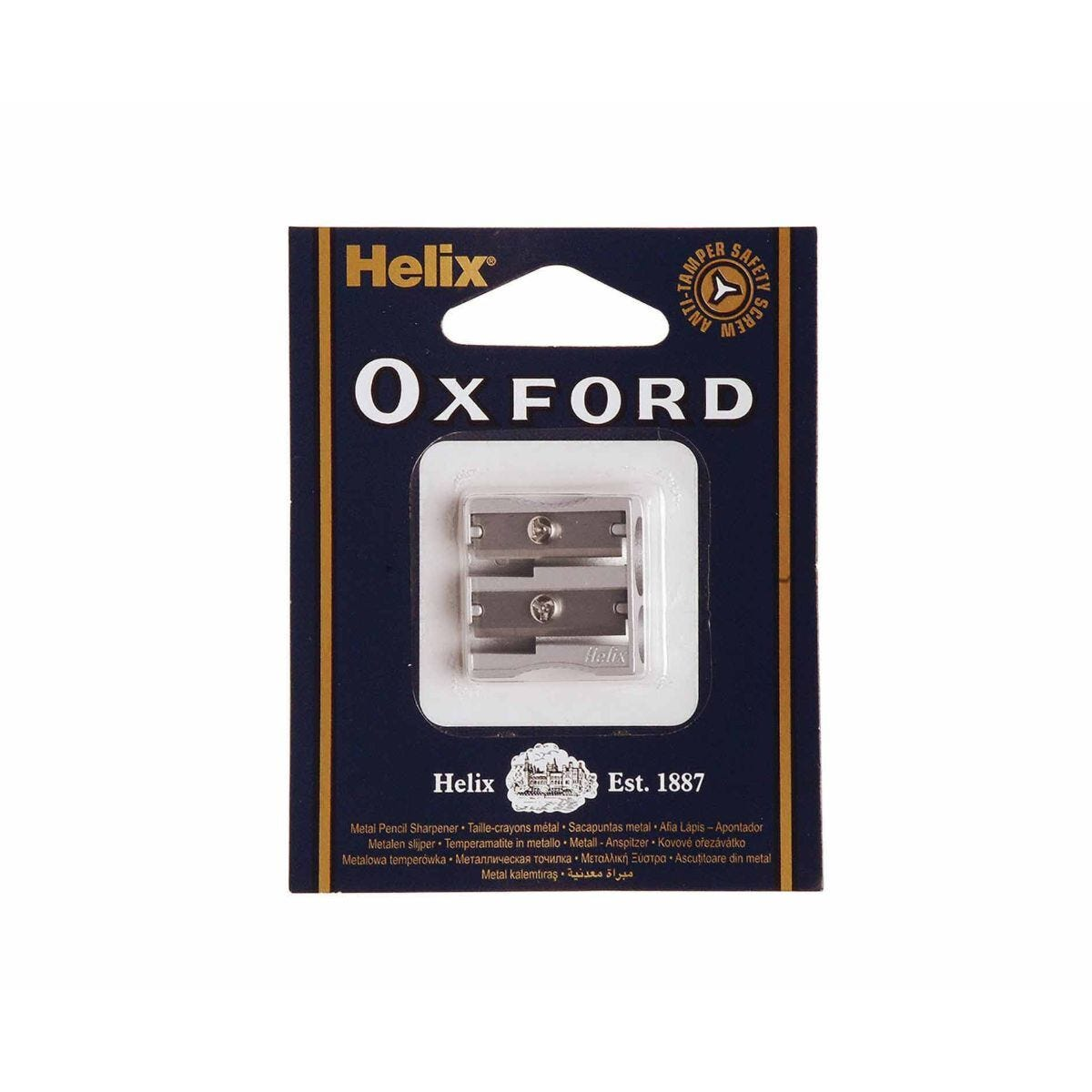 Helix Oxford Metal Pencil Sharpener Double Hole