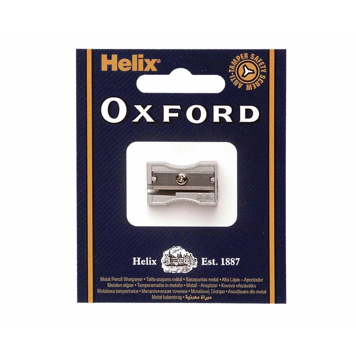Helix Oxford Metal Pencil Sharpener Single Hole