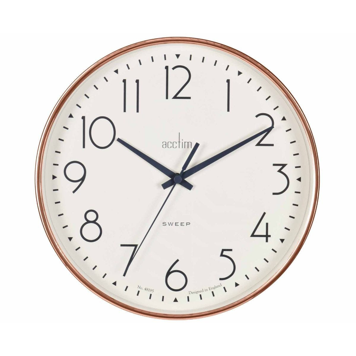 Acctim Earl Rose Gold Wall Clock
