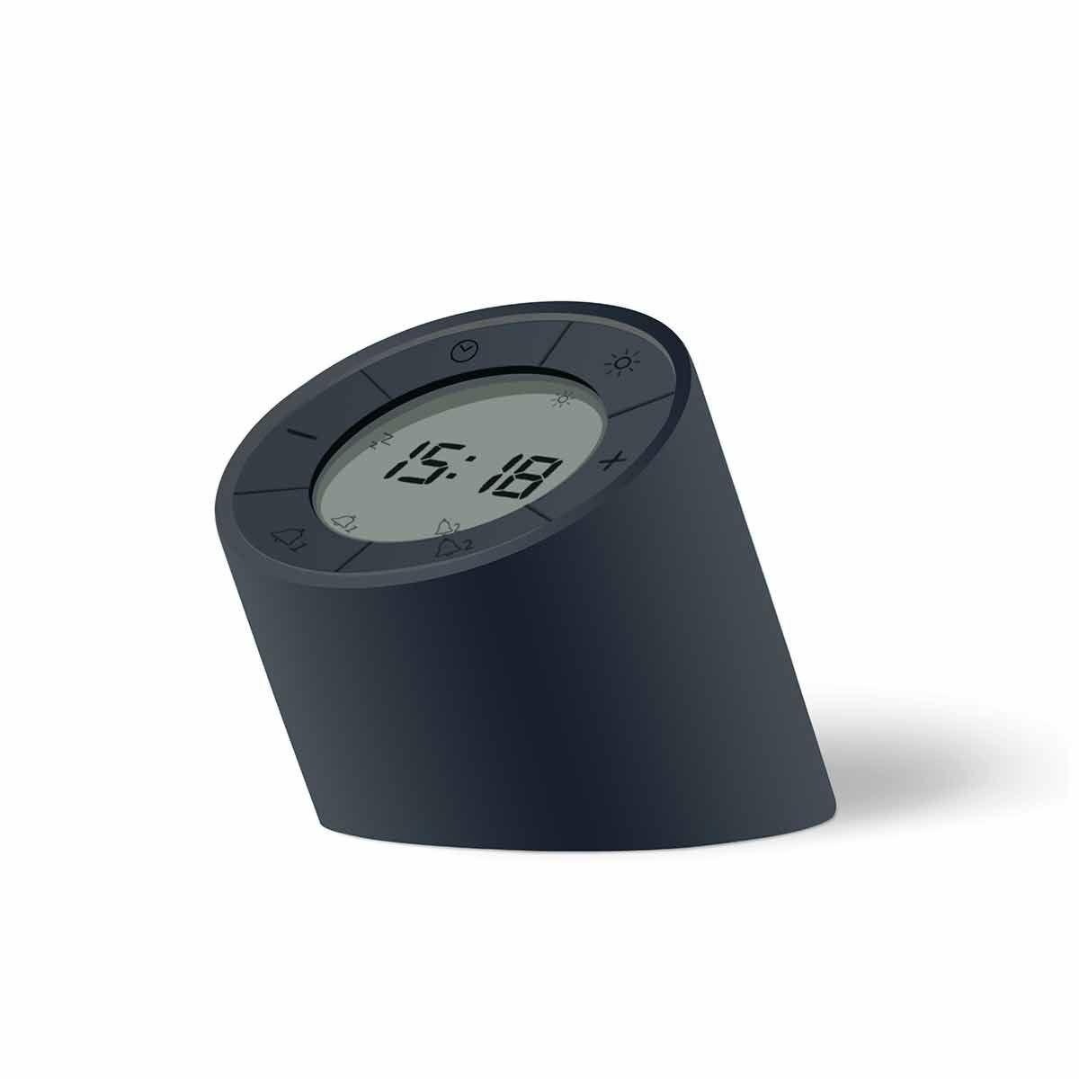 Gingko Edge Light Alarm Clock Black