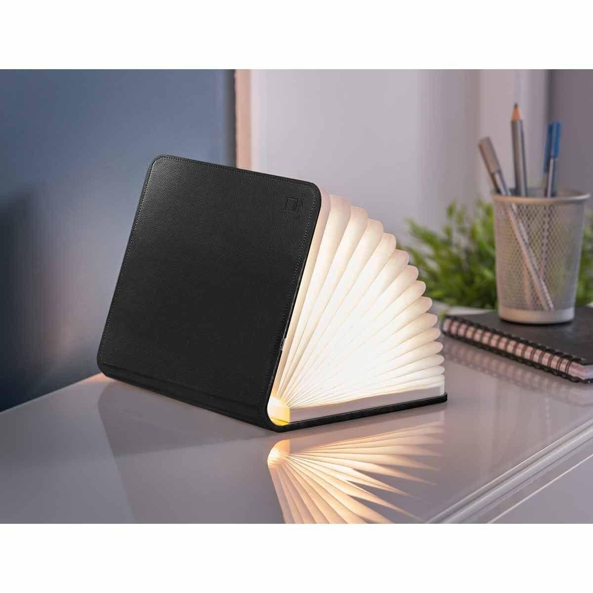 Gingko Large Smart Leather Book Light Black