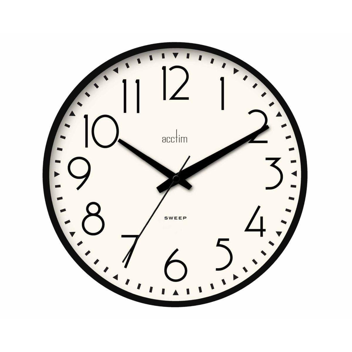 Acctim Earl Black Wall Clock