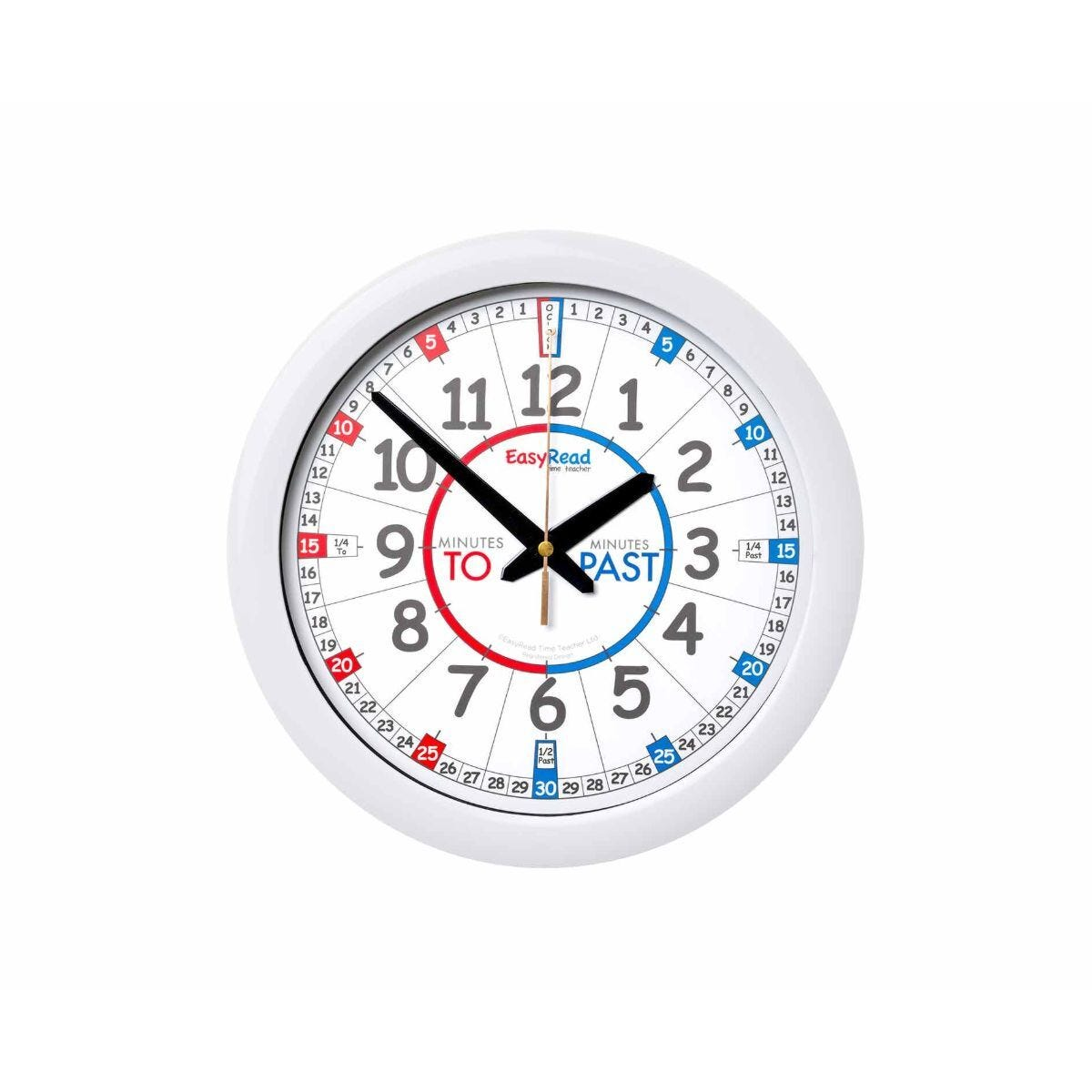 EasyRead Classroom Time Teaching Wall Clock Past and To 29cm