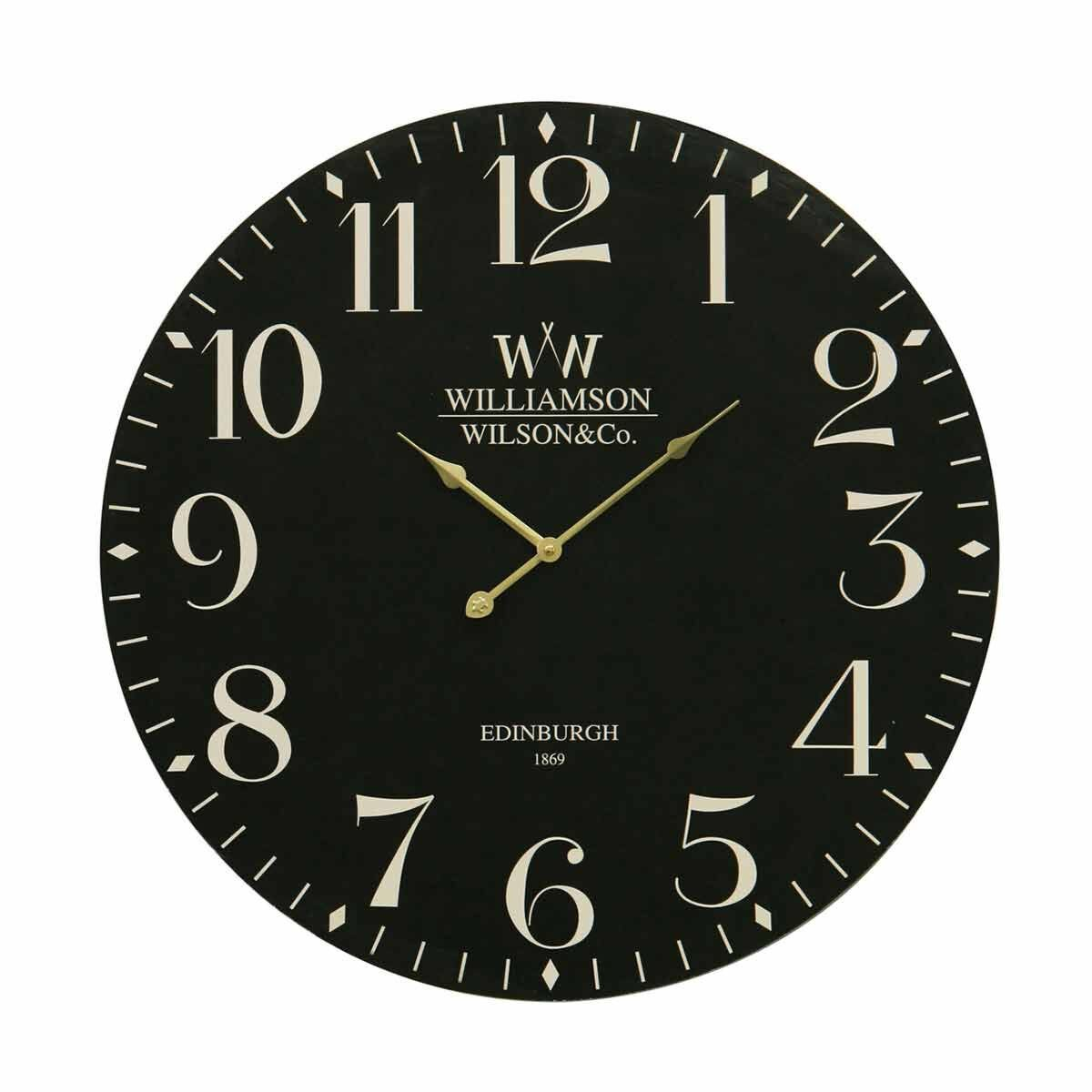 Premier Housewares Classical Wall Clock 60cm Black