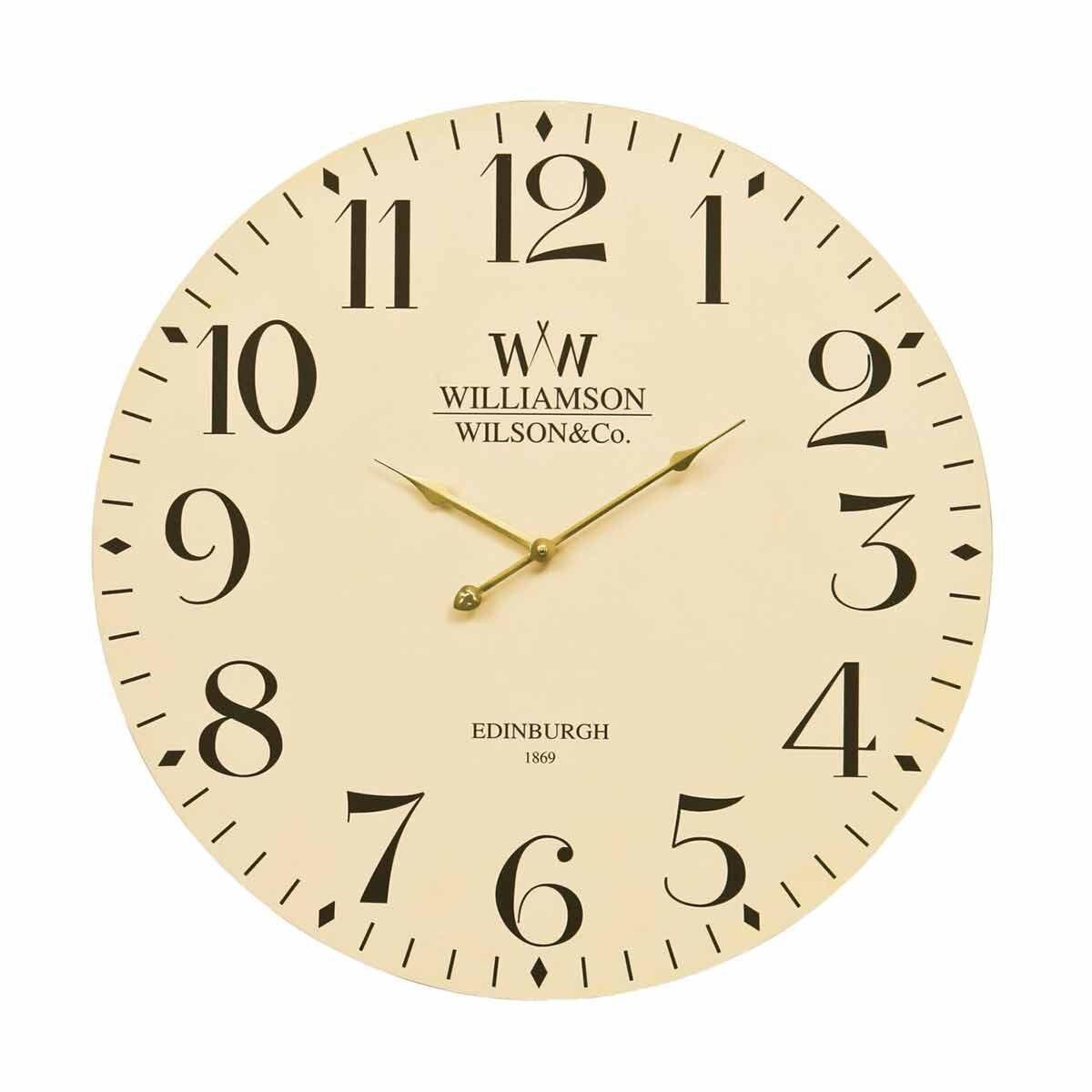 Premier Housewares Classical Wall Clock 60cm Cream