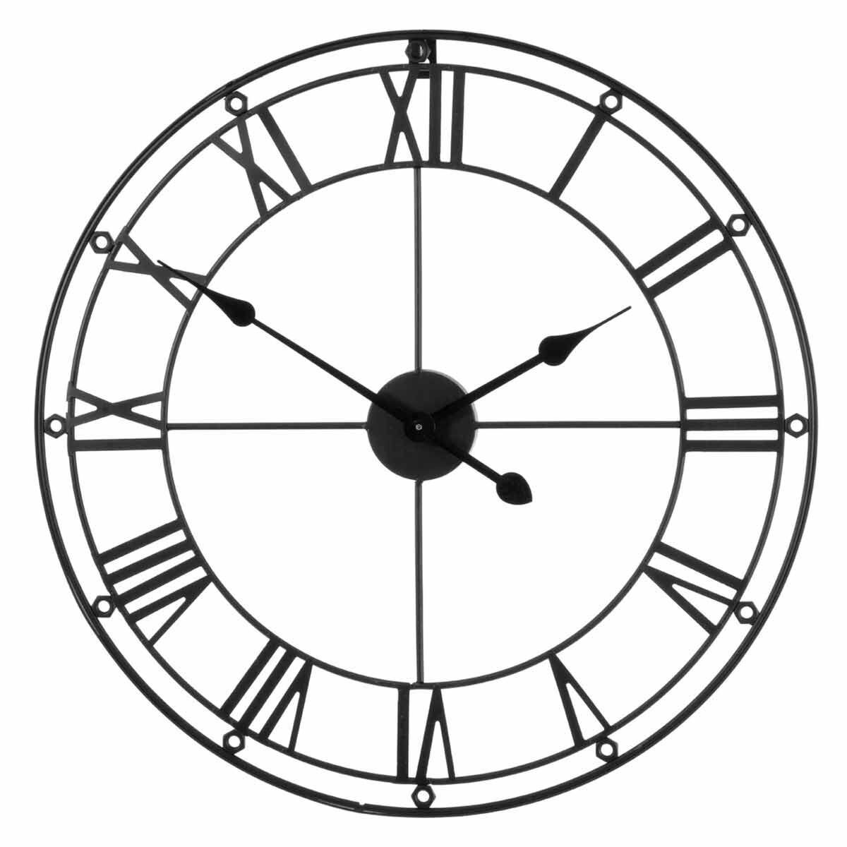 Premier Housewares Metal Wall Clock 59cm Matte Black