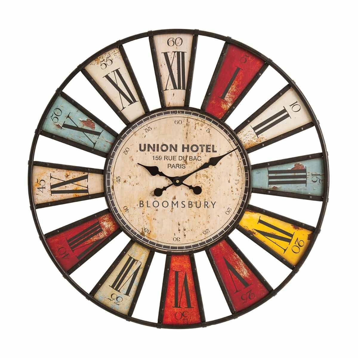 Premier Housewares Bloomsbury Vibrant Wall Clock 80cm