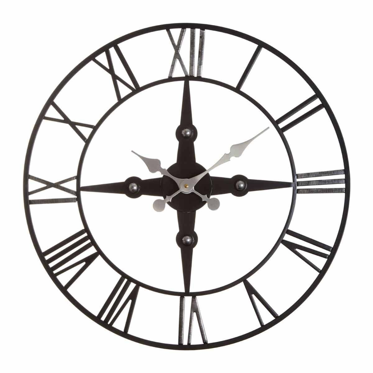 Premier Housewares Vitus Metal Wall Clock 59cm