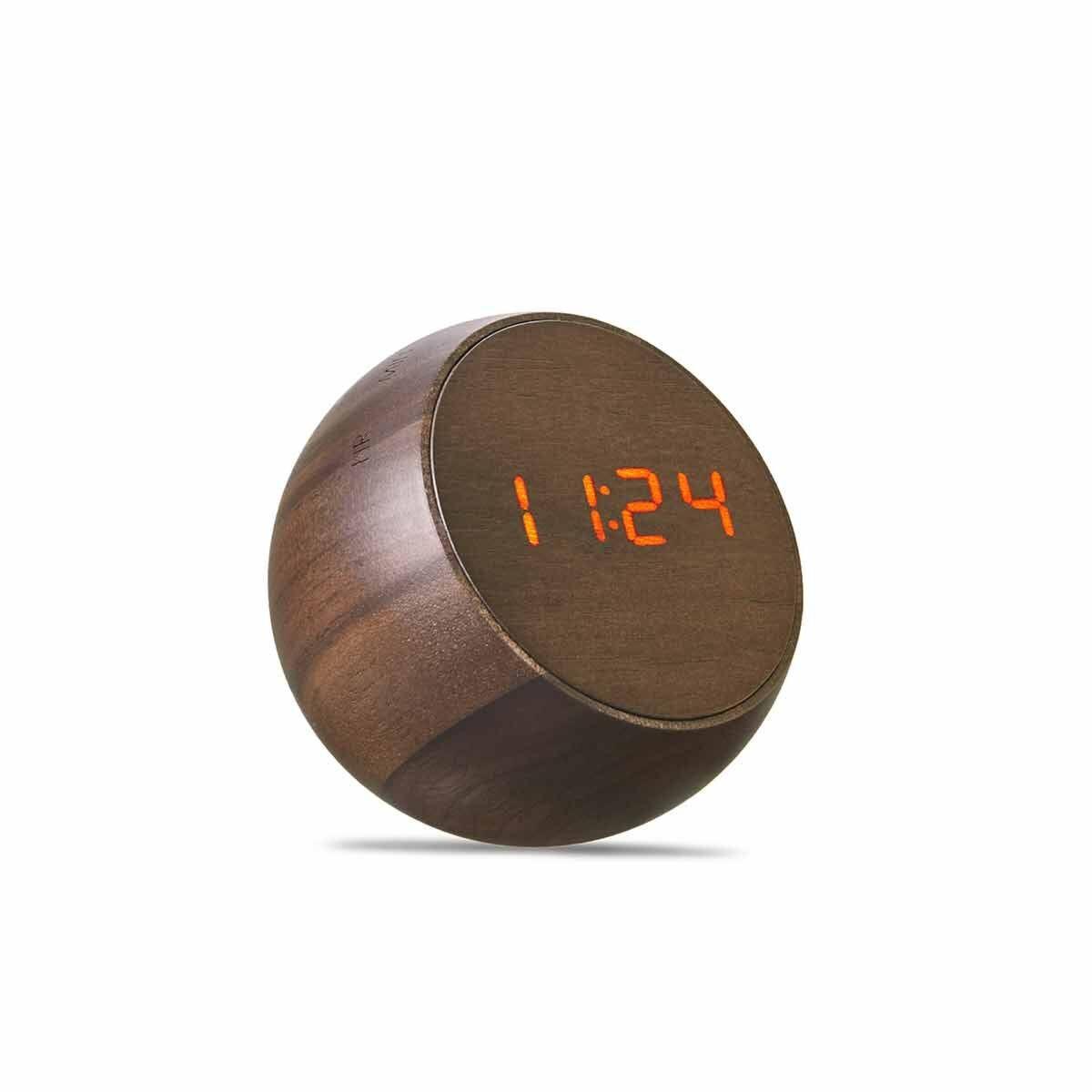 Gingko Tumbler Click Clock Walnut