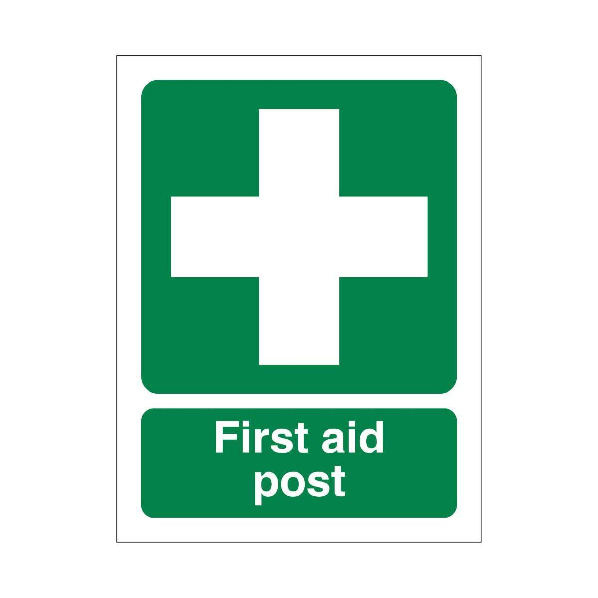 PVC Sign First Aider Post 150x200mm
