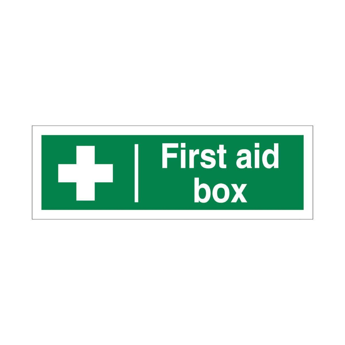 PVC Sign First Aid Box 300x100mm