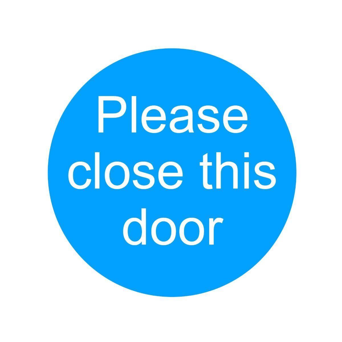 PVC Sign Please Close This Door 100x100mm