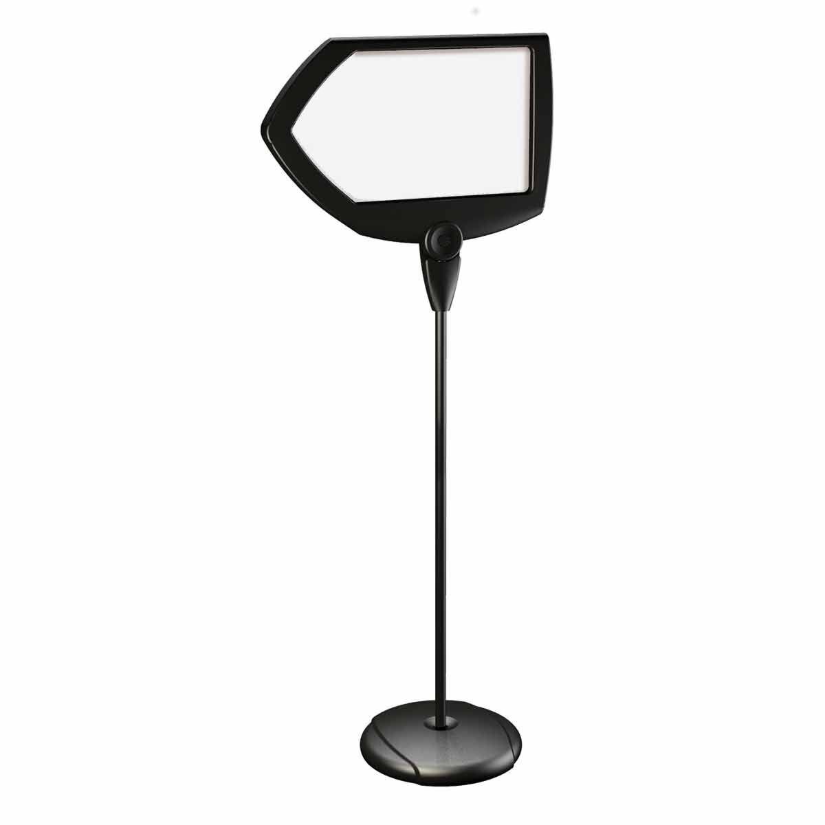 Bi-office Magnetic Drywipe Arrow Floor Sign Black