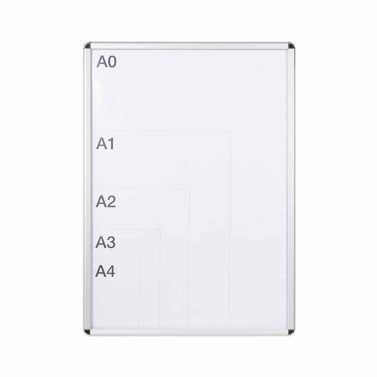 Bi-Office Curled Snap Display Case A5