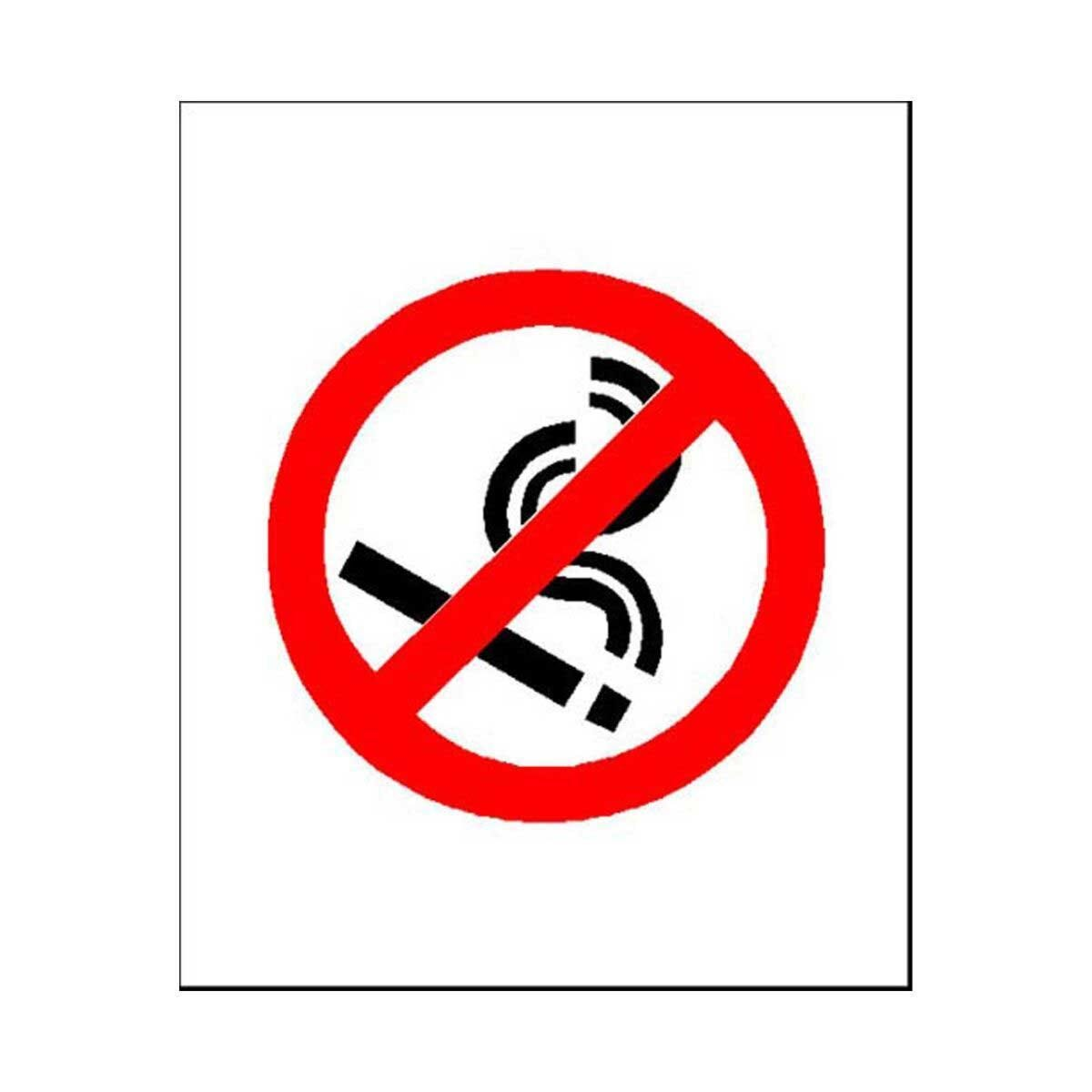 PVC Sign No Smoking Logo 115x140mm