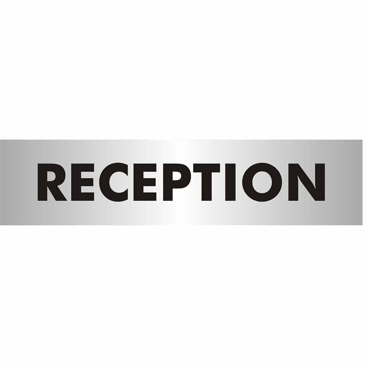 Reception Sign Acrylic 190x45mm