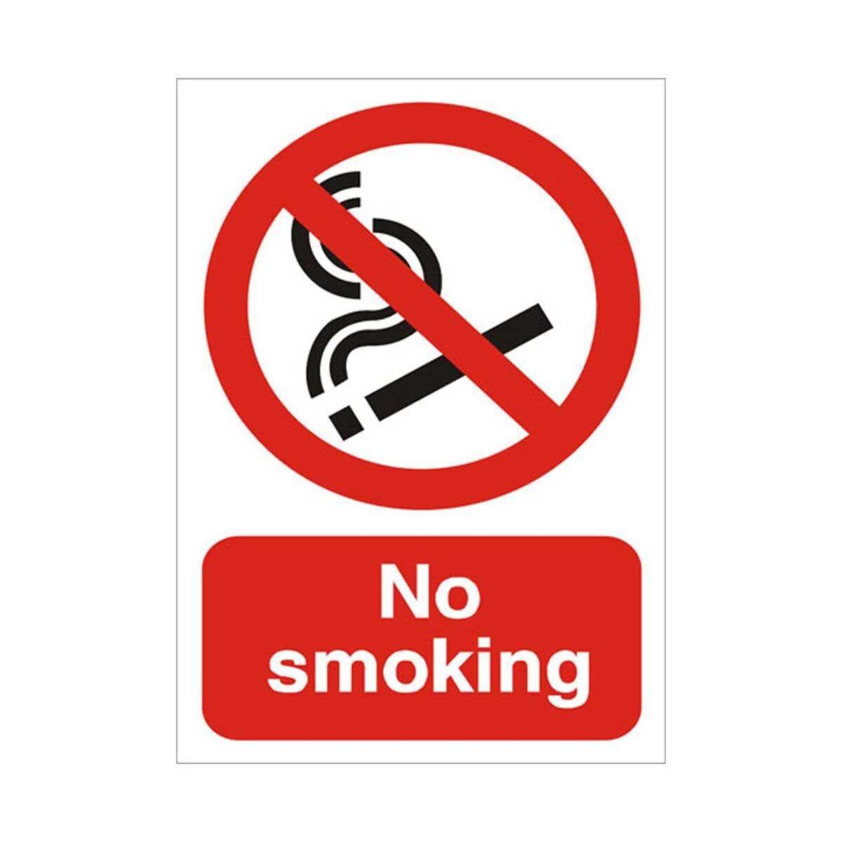 Foam PVC Sign No Smoking 300x400mm