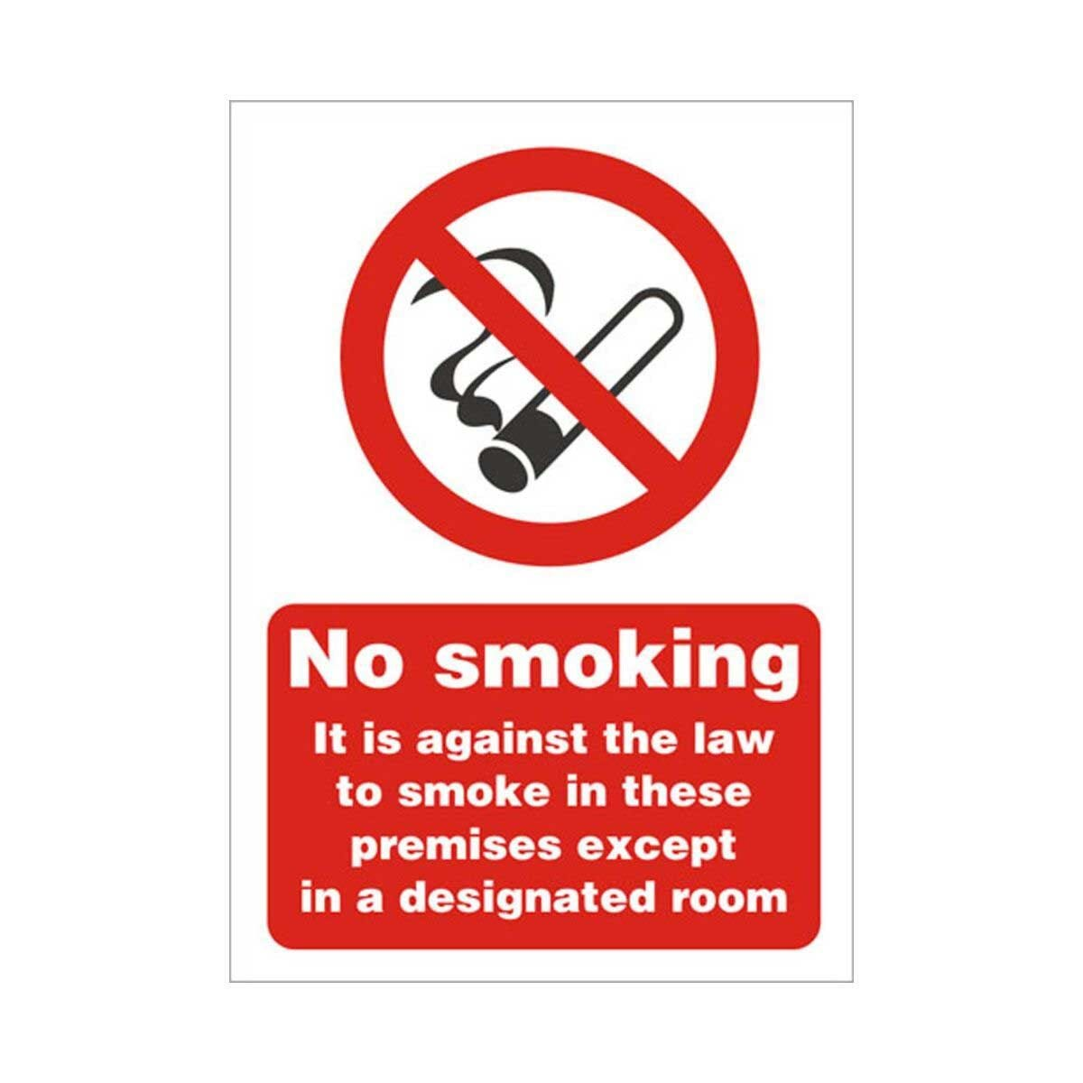 Entrance Sign No Smoking 210x150mm