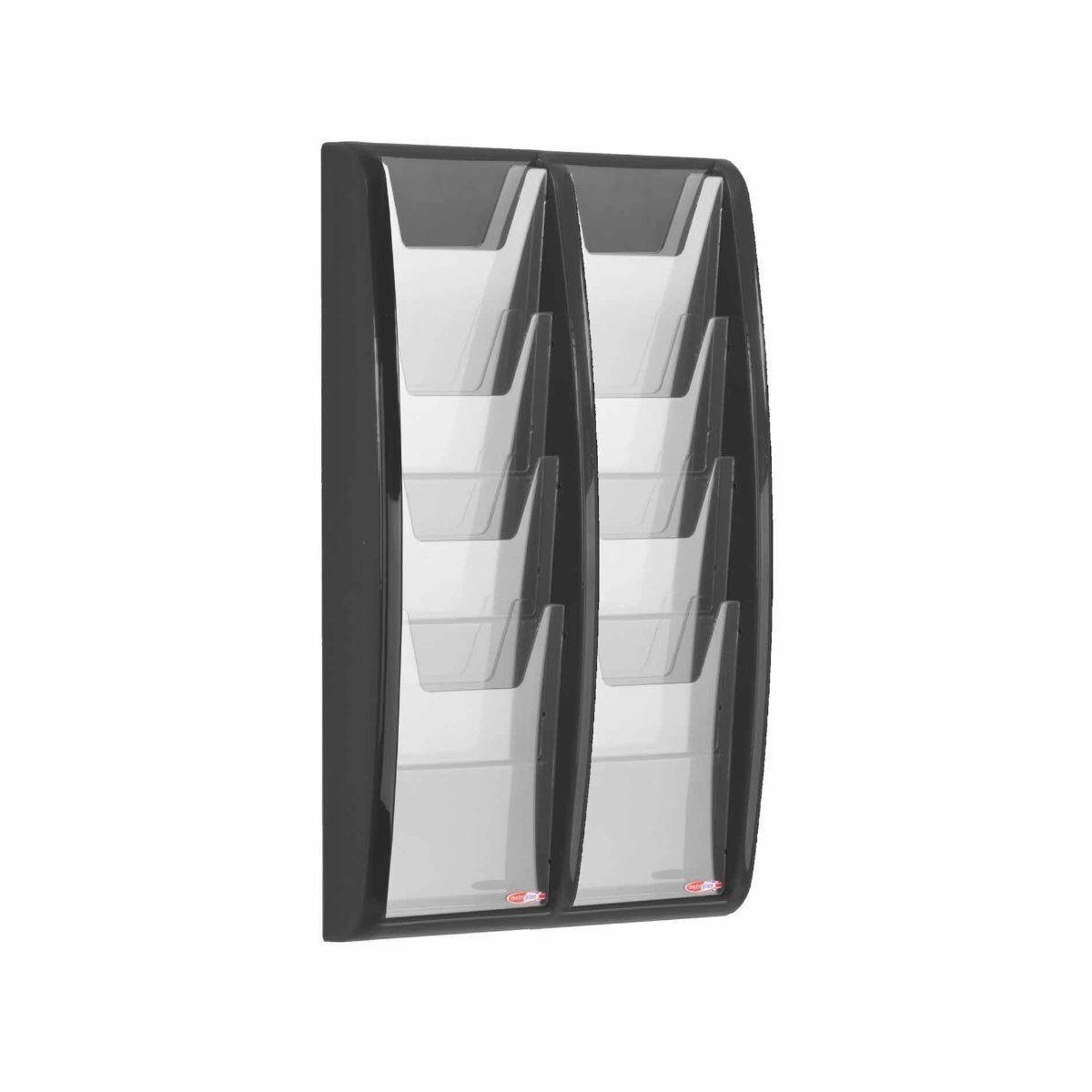 Metroplan Panorama Wall Mounted Leaflet Dispenser 8 x A5 Black