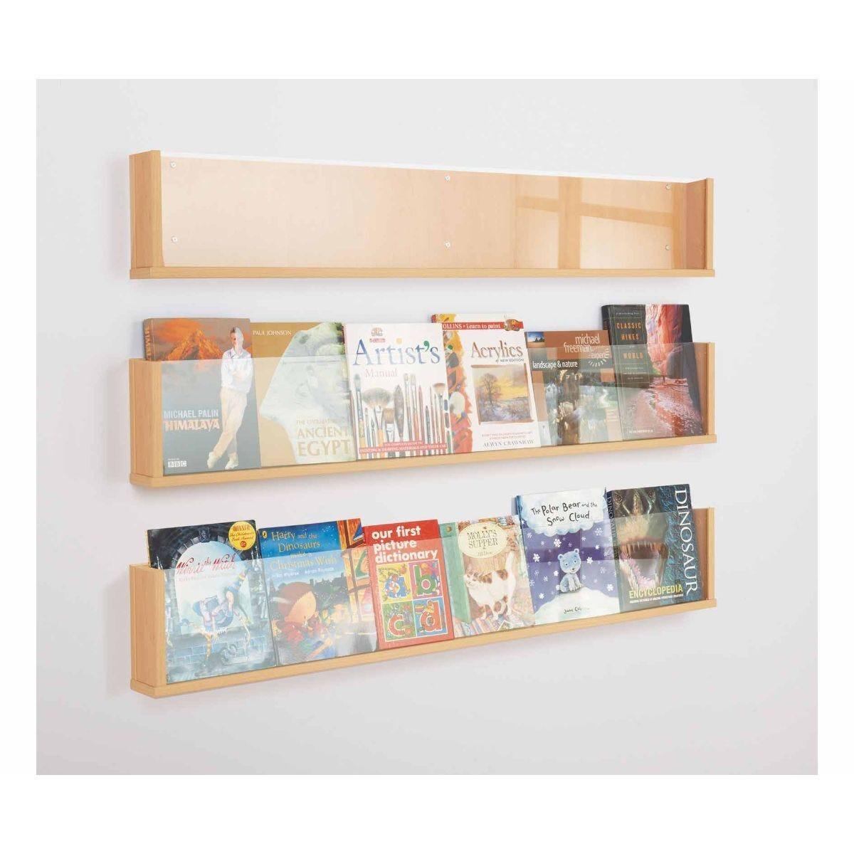 Metroplan Shelf Style Wall Mounted Dispenser Pack of 3 Beech