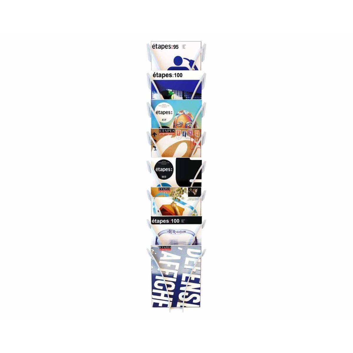 Fast Paper Wall Mounted Leaflet Dispenser 8 Compartments