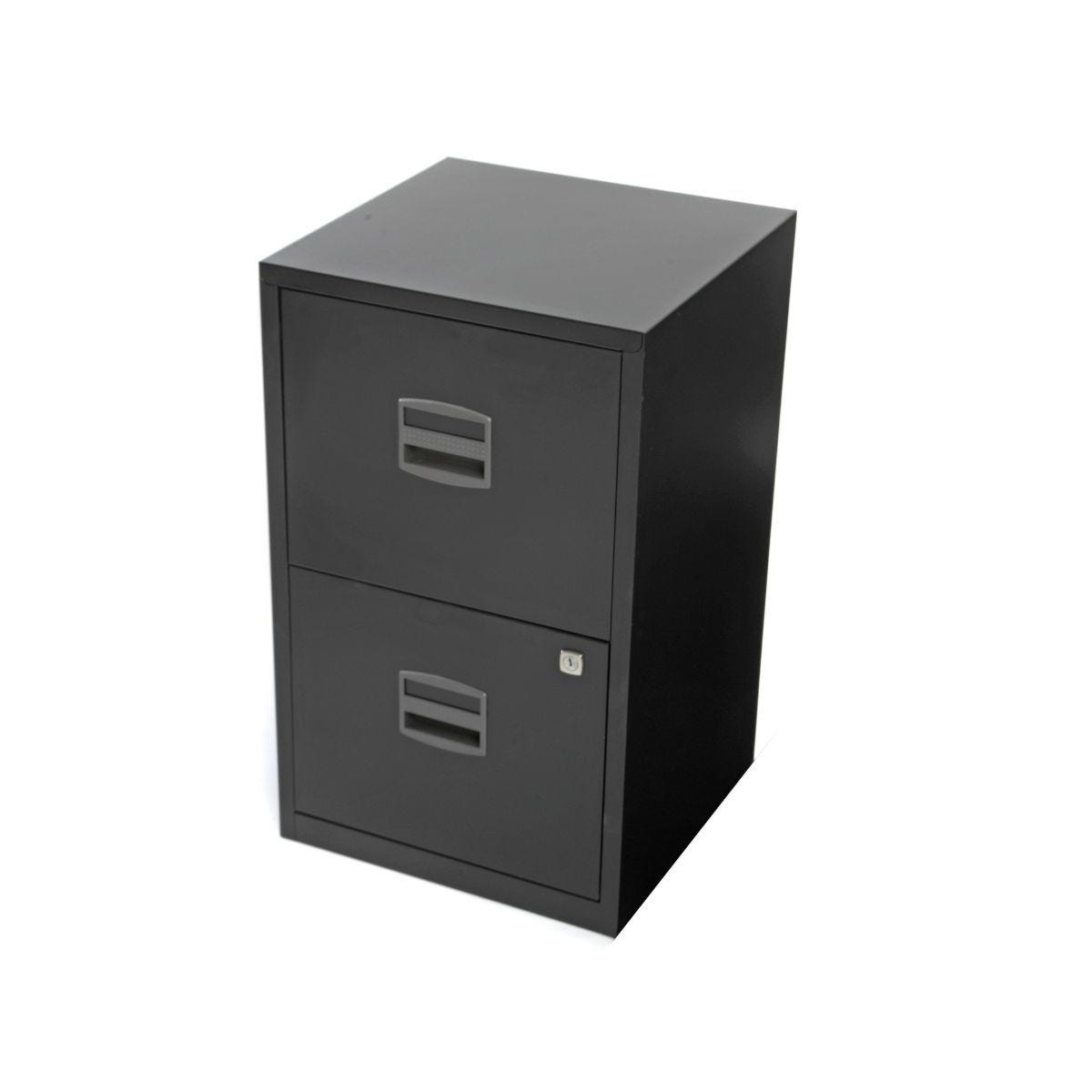 Bisley Metal Filing Cabinet 2 Drawer A4 H670xW410xD400mm