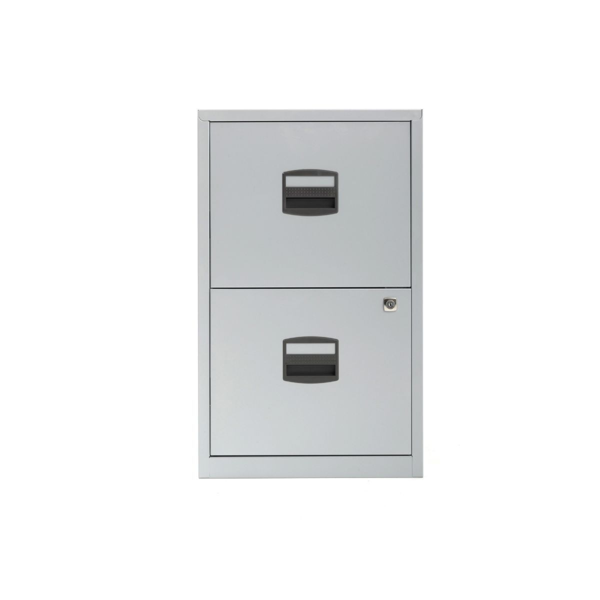 Bisley Metal Filing Cabinet 2 Drawer A4 H670xW410xD400mm Silver